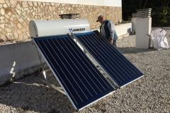 Solaranlage mit 300l Wasserspeicher in Málaga